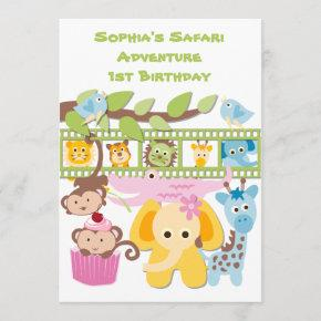 Custom Safari Adventure Birthday Invitation