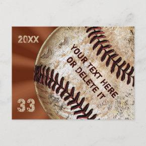 Custom Vintage Baseball Post Invitations Invitations