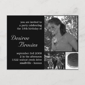 Customizable Birthday Invite  Photo Invitation