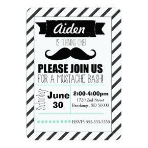 Customizable Mustache Party Invitation