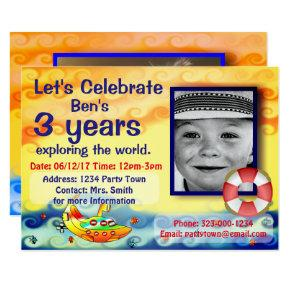 Customized Let's Celebrate Birthday Card