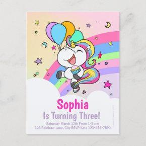 Cute Chibi Unicorn Birthday