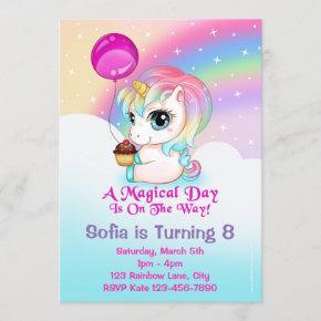 Cute Chibi Unicorn Birthday Party