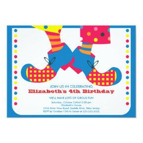 CUTE Circus Kids Birthday Party Invitations