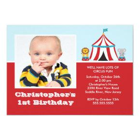 CUTE Circus Kids Birthday Party Invitations PHOTO