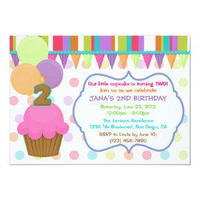 Cute Cupcake Birthday Invitations [two]