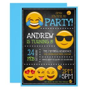 Cute Emoji Boy's Birthday Party