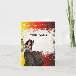 Cute Gothic fairy sweet sixteen birthday Invitation