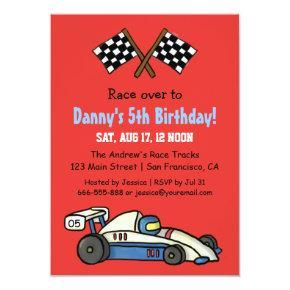 Cute Kids Race Car Birthday Party