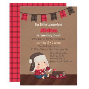 Cute Lumberjack 1st Birthday Party