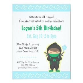 Cute Ninja Boy Kids Birthday Party