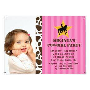 Little cowgirl 1st birthday invitations candied clouds cute photo little cowgirl birthday party invitations filmwisefo