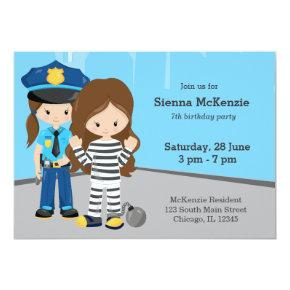 Cute Police Officer Invitation