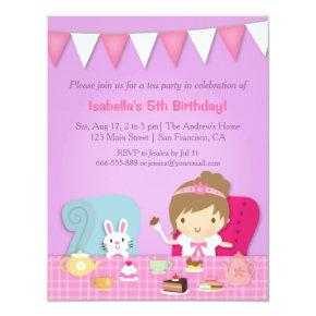 Cute Princess Tea Party Birthday
