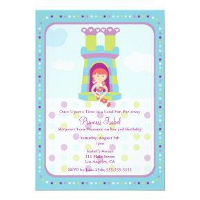 Cute Rapunzel Princess Birthday Party Invite