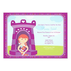 Cute Rapunzel Princess Birthday Party Invite