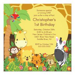 Cute Safari Jungle Birthday Party