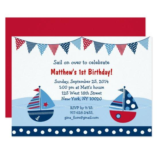 cute sailboat birthday card candied clouds