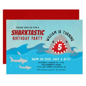 Cute Shark | Boys Birthday Party Invitation