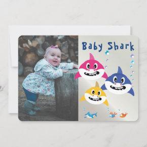 Cute Shark Super Birthday Ocean Party Invitation