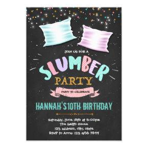 Cute slumber birthday party invitation