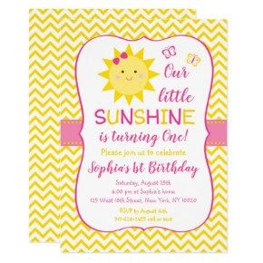 Cute Sunshine Birthday Invitation