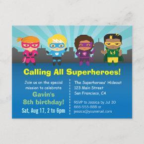 Cute Superhero Birthday Party Kids
