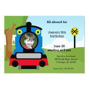 Cute train birthday Invitations