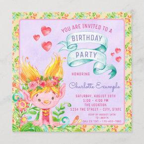 Cute Troll Birthday Party