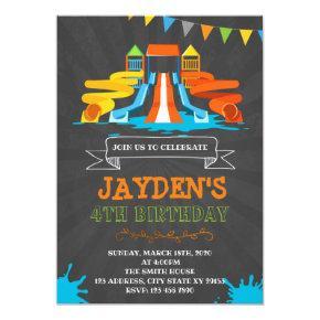Cute waterpark birthday party invitation