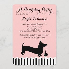 Dachshund Birthday Invitation