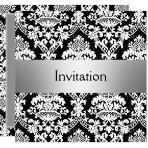 Damask Party Invitation save the date