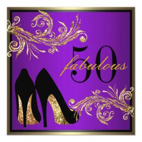Dancing Shoes - Fabulous 50th Birthday Invitation