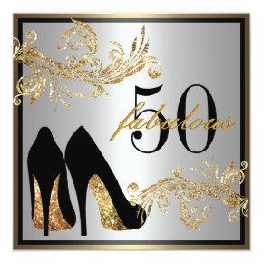 Dancing Shoes - Fabulous 50th Birthday Invitations