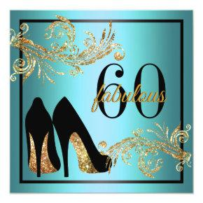 Dancing Shoes - Fabulous 60th Birthday Invitation