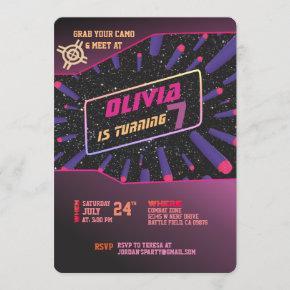 Dart Gun Invitation