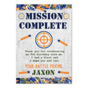 Dart Military Birthday Party  Favor