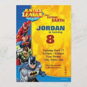 DC Comics | Justice League - Birthday Invitation