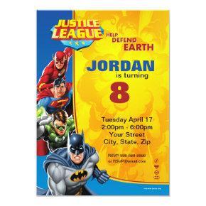 DC Comics | Justice League - Birthday Invitations