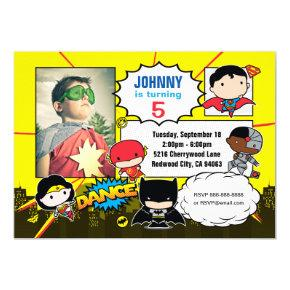 DC Comics | Justice League - Chibi Birthday Photo Card