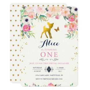 Deer Birthday Invitations