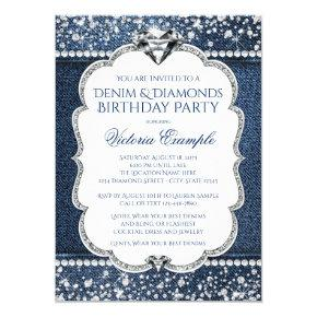 Denim and Diamond Bling Birthday Party