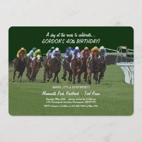 Derby Inspiration Birthday Horse Racing Invitation