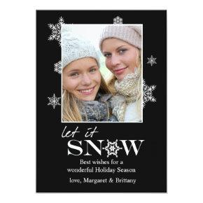Designer Snowflakes - Photo Holiday Card