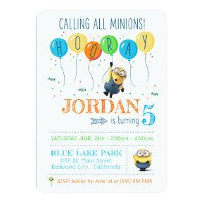 Despicable Me | Minion Balloon Birthday Invitation