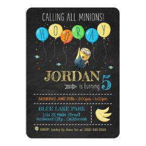 Despicable Me | Minion Chalkboard Birthday Invitation