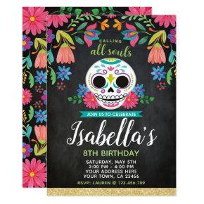 Dia de los Muertos Birthday Invitation