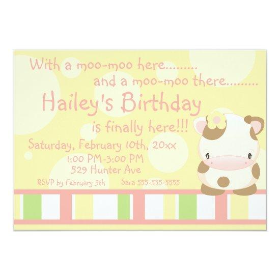 diddles farm moo cow birthday invitations 3 candied clouds