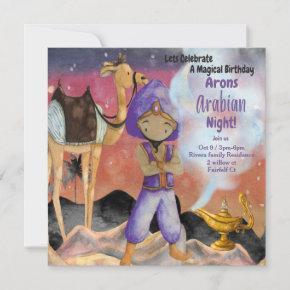 Different Arabian Night Birthday Invitation