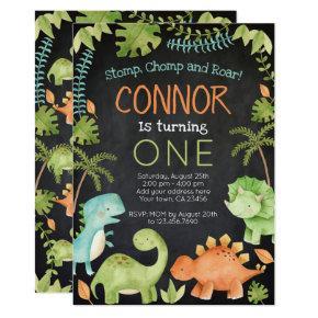 Dinosaur Birthday Invitation